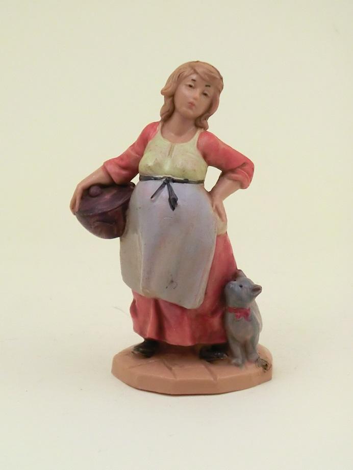 Donna incinta con gattino cm. 6,5