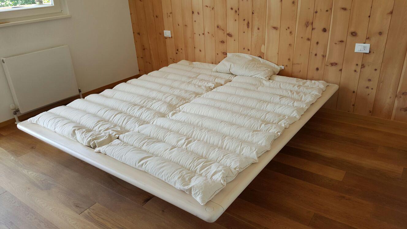 Materasso letto matrimoniale pula farro bio artigianali su misura + cuscino notte