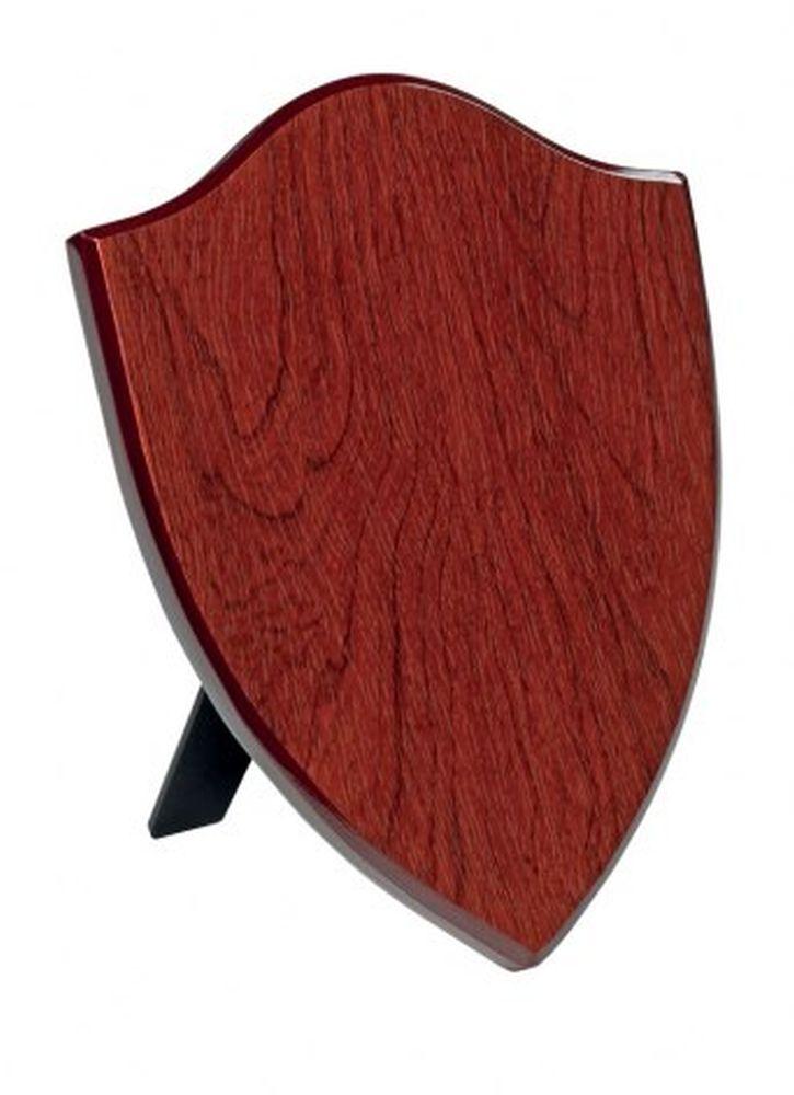 Crest scudo legno mogano MDF cm.12,5x1,5x17,8h