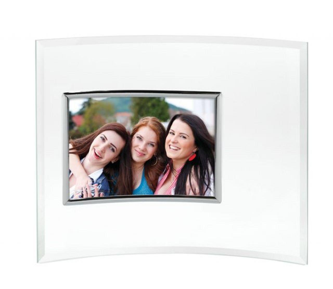 Portafoto in Vetro concavo cm.13x9x1h