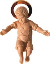 Gesù Bambino color carne cm. 5
