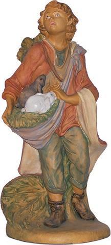 Pastore con conigli presepio cm. 40