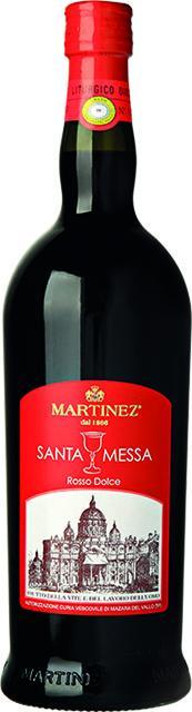 Vino rosso dolce Santa Messa Martinez (bottiglia)
