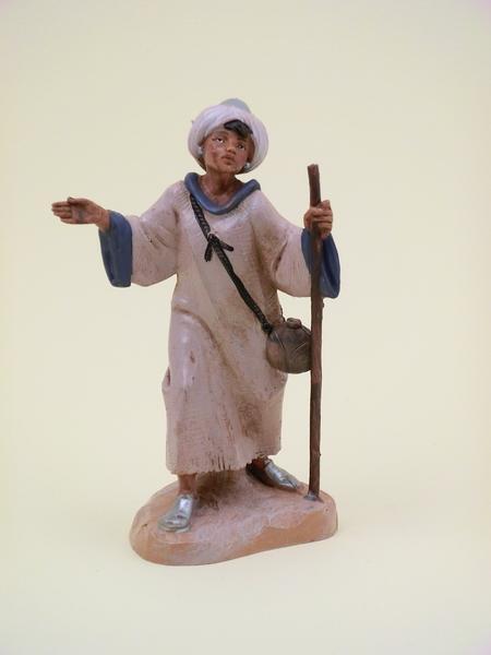 Ragazzo arabo con bastone cm 12