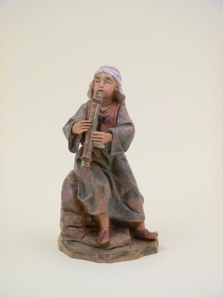 Pastore arabo con piffero cm 12