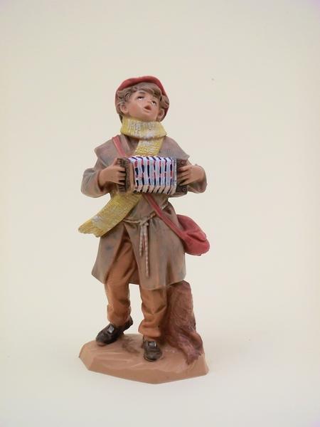 Ragazzo con fisarmonica cm 12