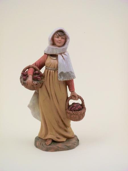Donna con cesti cm 12