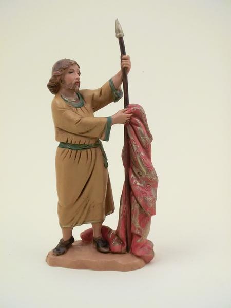Pastore con lancia e tenda cm 12