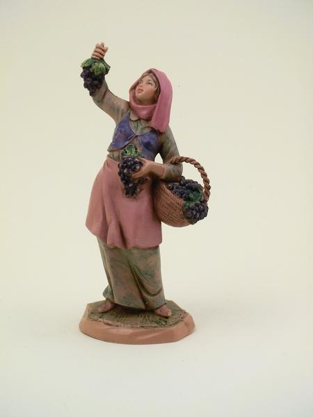 Donna con uva cm 12