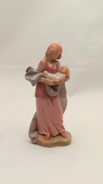 Donna con bambino in braccio cm 12