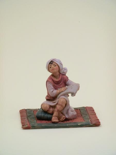 Ragazzo arabo seduto cm 12
