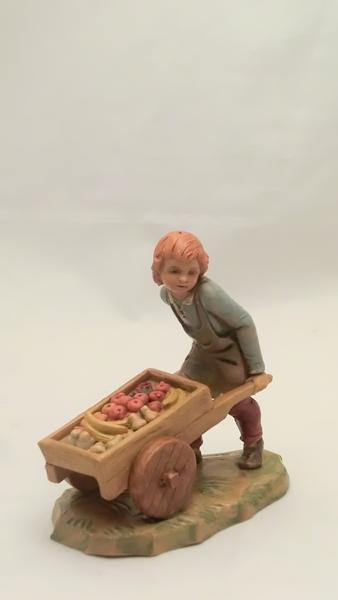 Fruttivendolo con carriola cm 12