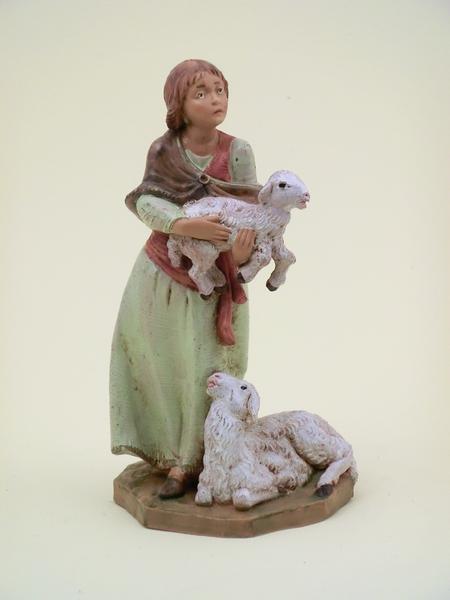 Donna con pecore cm 12