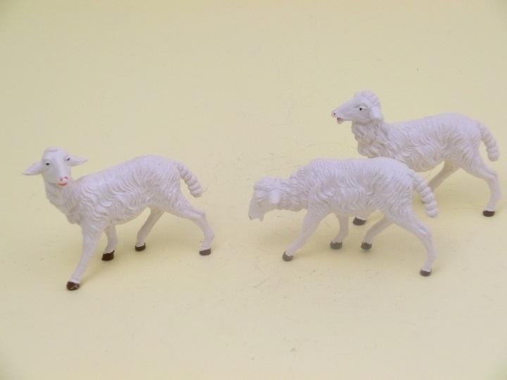 Serie 3 pecore bianche cm. 19