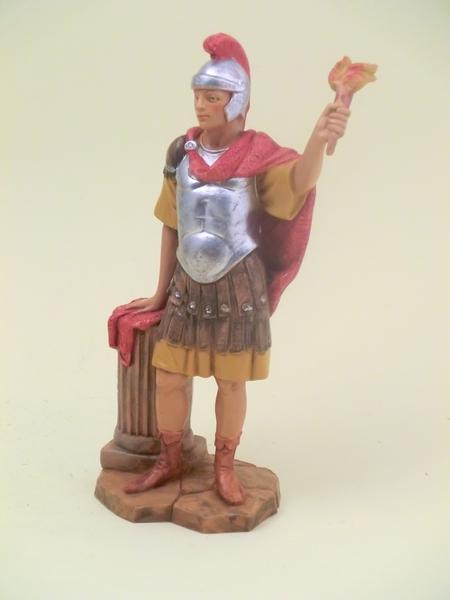 Soldato romano con fiaccola cm 19