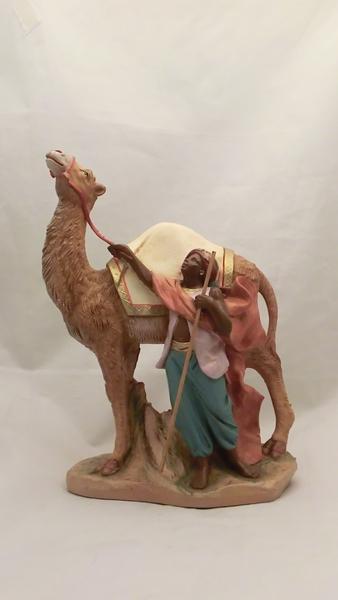 Pastore arabo con cammello cm 19