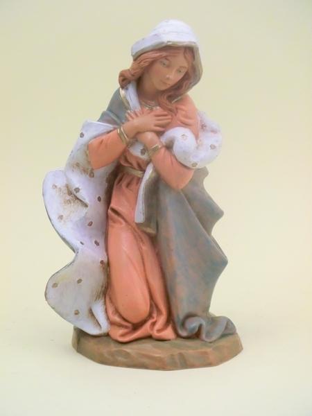 Madonna in ginocchio tipo  legno cm.19