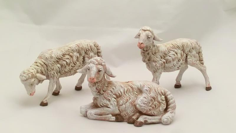 Serie 3 pecore sfumate cm 30