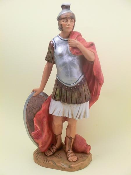 Soldato romano con scudo cm 30