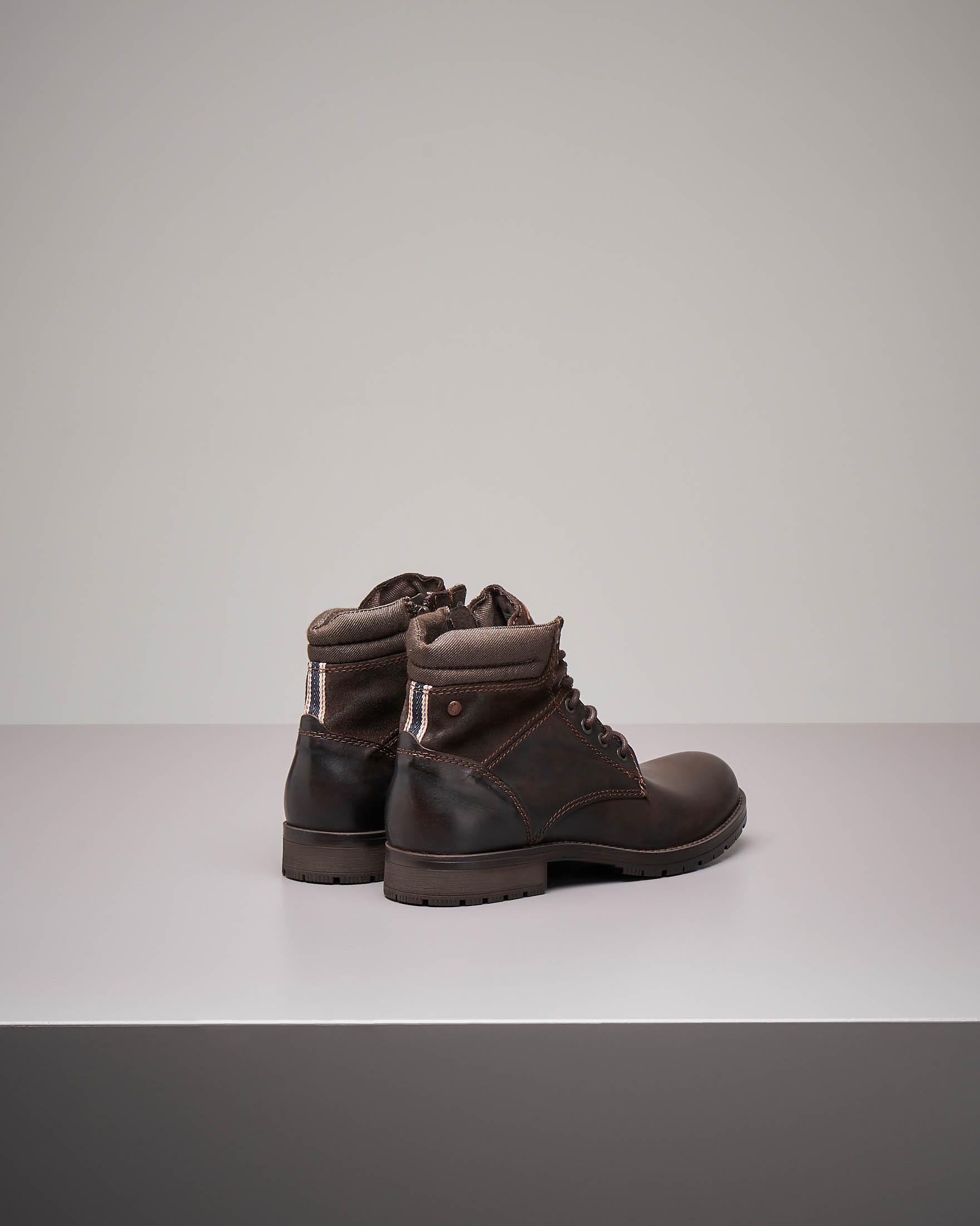 Boots testa di moro in pelle