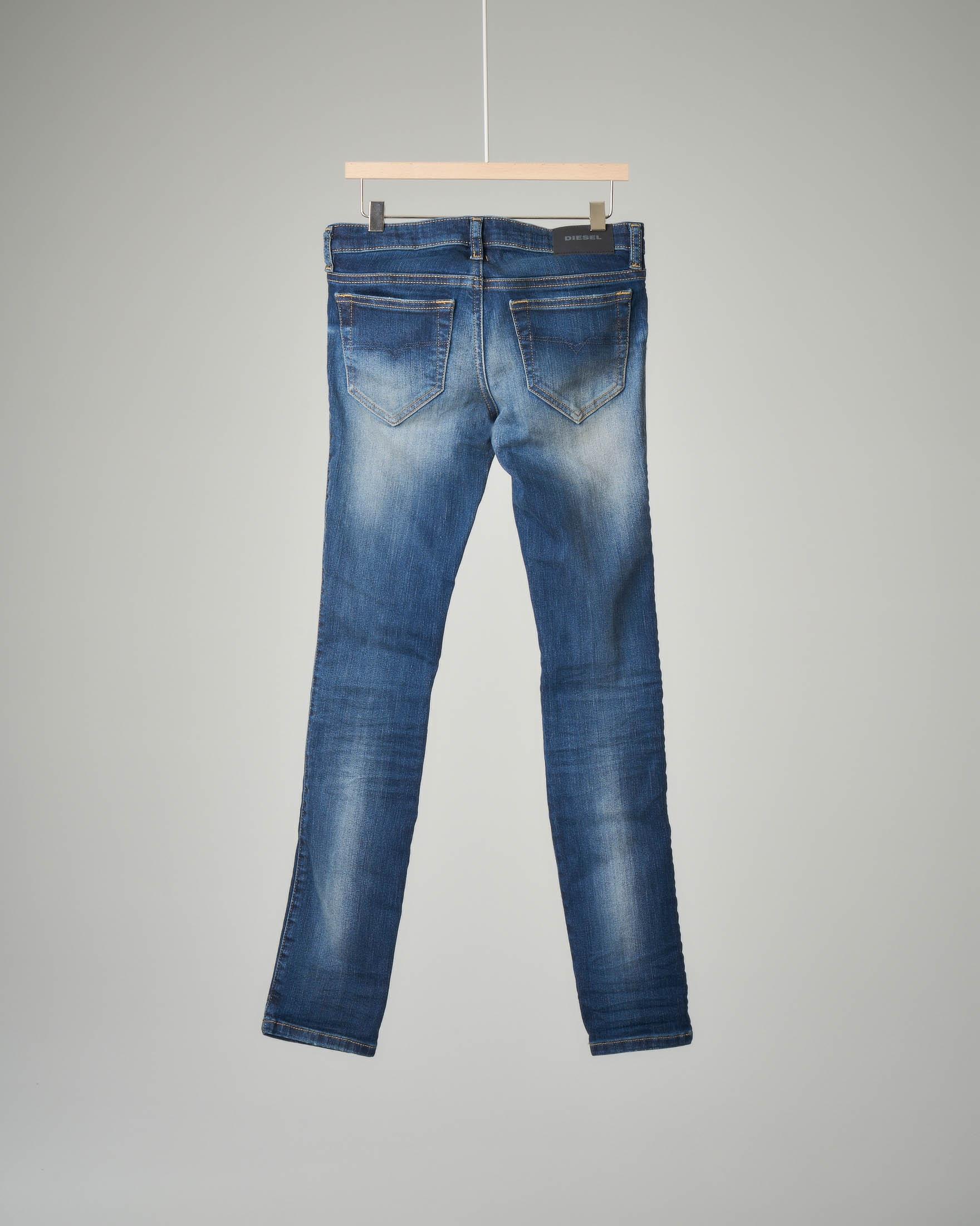 Jeans super skinny sbiancato 8-16 anni