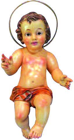 Gesù Bambino in gesso occhi di vetro cm. 30