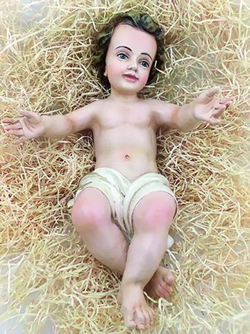 Gesù Bambino in resina cm. 27