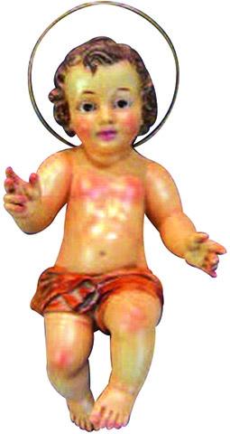 Gesù Bambino in gesso occhi di vetro cm. 40