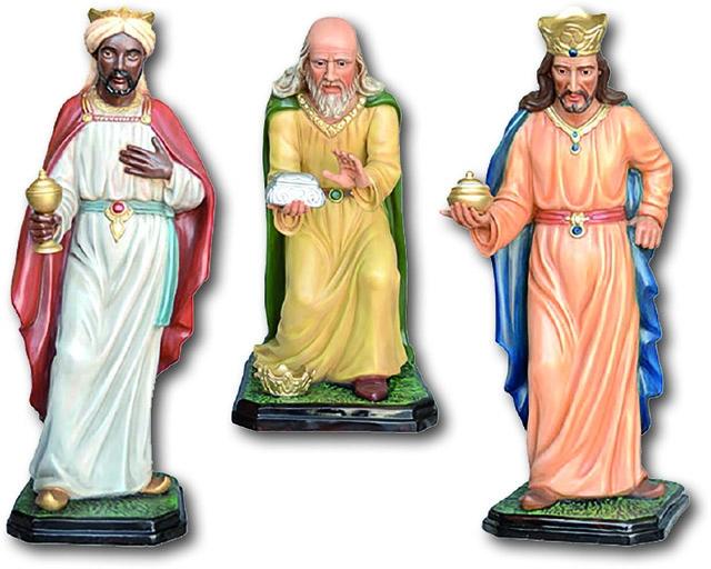 Serie tre Re Magi - presepio cm. 100