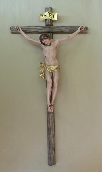 Crocefisso e corpo in legno cm. 40