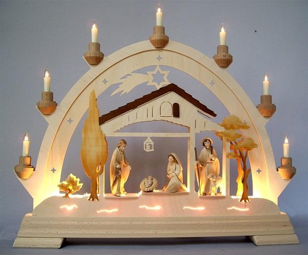 Arco in legno con luci