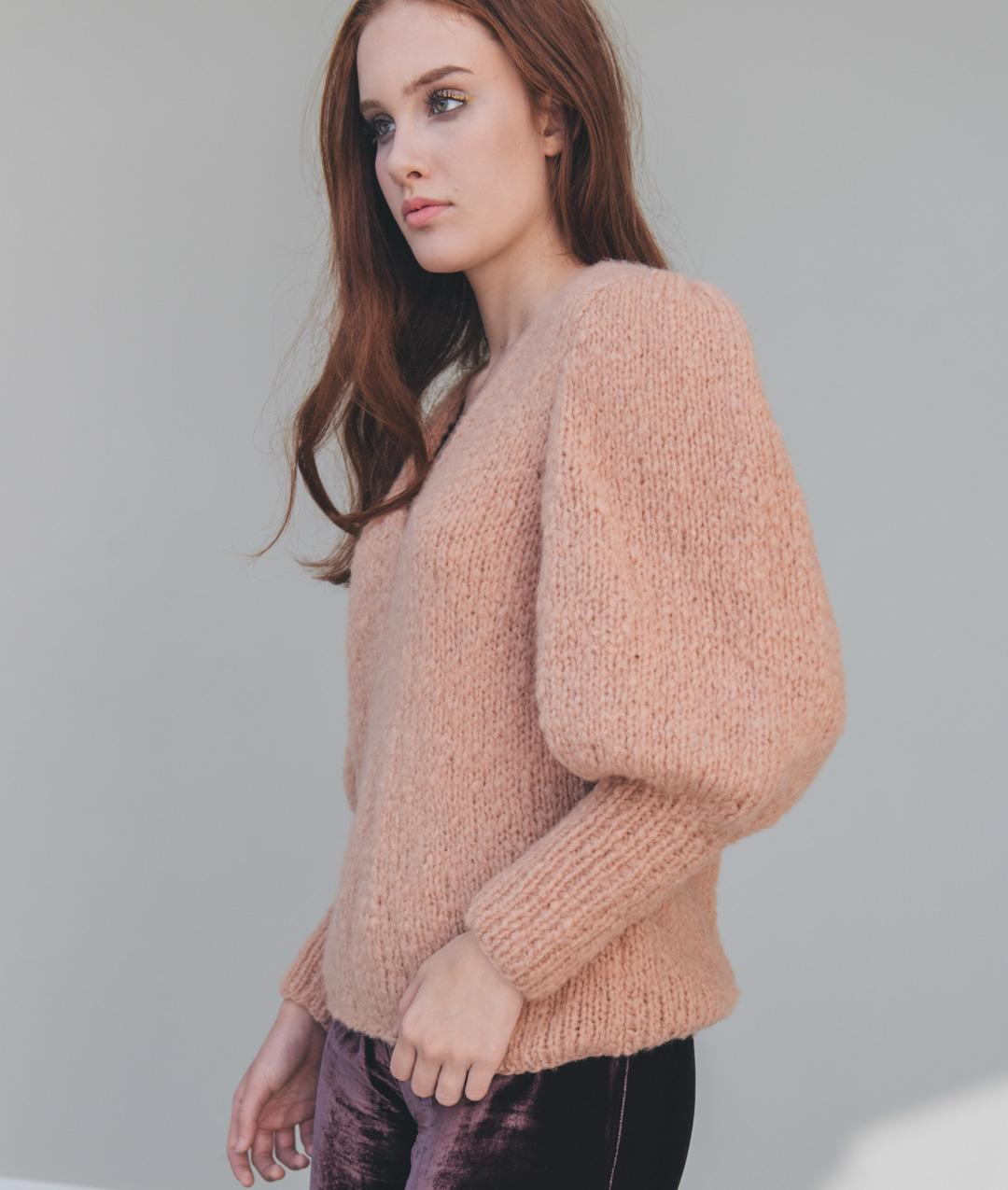 Sweaters and Tops - Wool - CREME CARAMEL SWEATER - 1