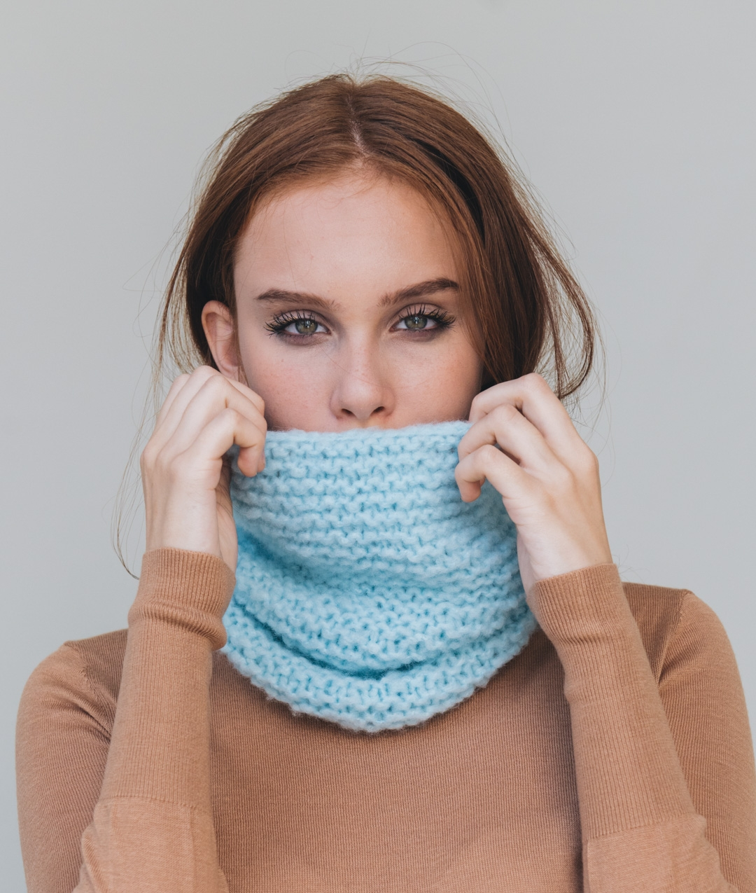Sweaters and Tops - WoolScarves and Snoods - Wool - CANDY DONUT SNOOD - 1