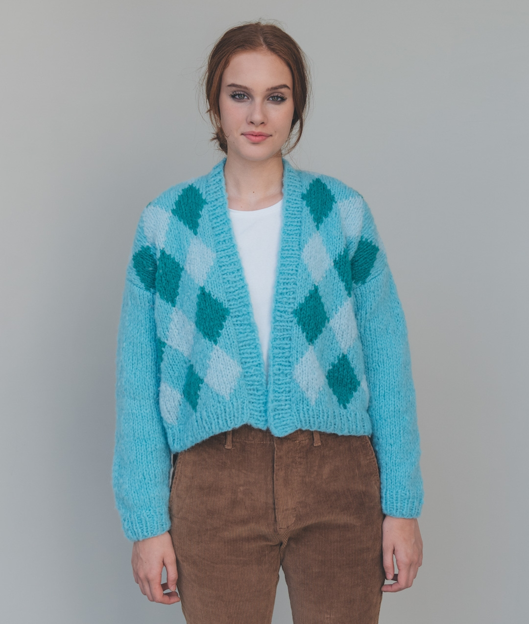 Sweaters and Tops - WoolCardigans and Vests  - Wool - ICE CREAM CARDI - 1