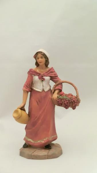 Donna con cesto cm 9,5