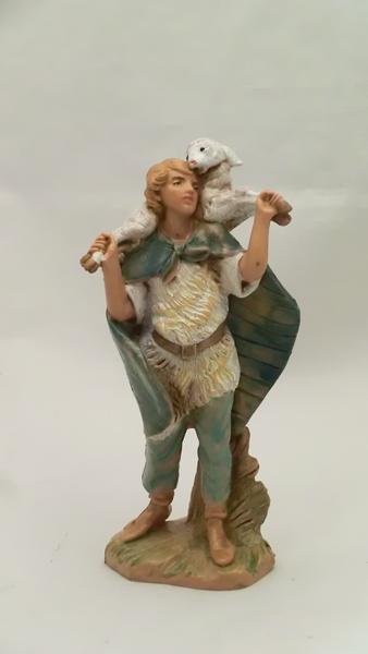 Ragazzo con agnello in spalla cm 9,5