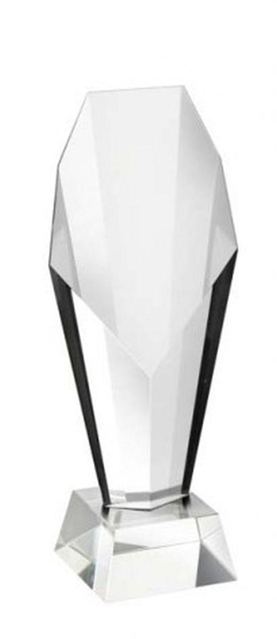 Trofeo coppa Atene olimpionica in vetro cristallo cm.5x5x23,1h