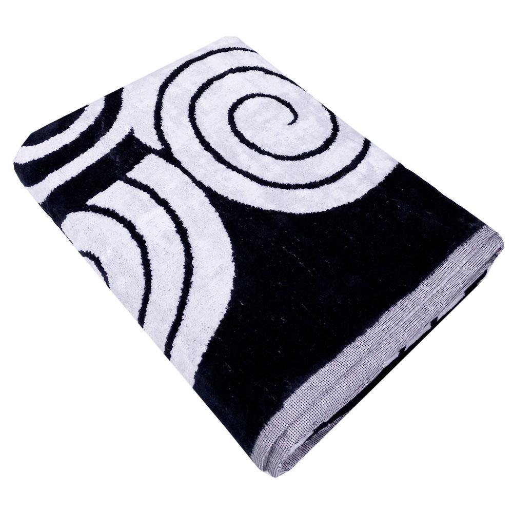 Telo da bagno in spugna 95x150 cm Carrara BOHEME bianco e nero