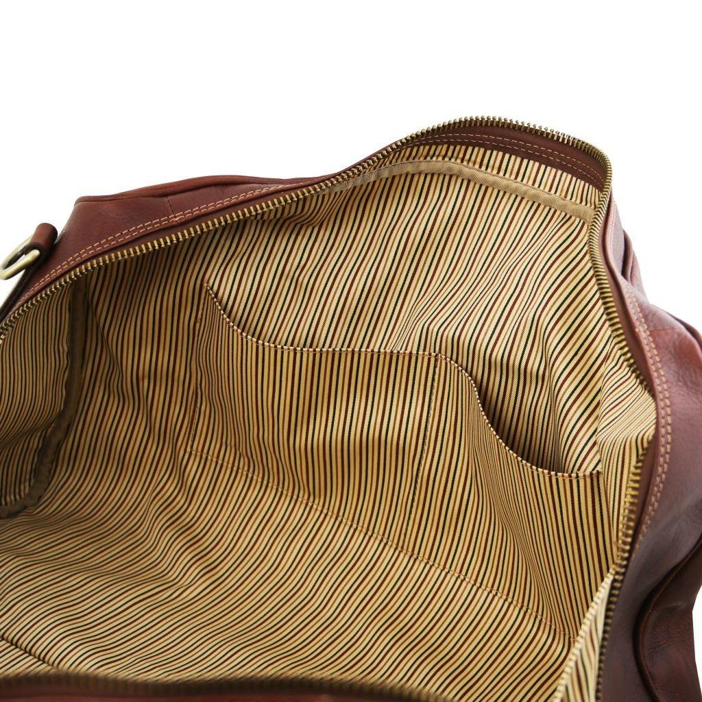 Tuscany Leather TL141657 Lisbona - Travel leather duffle bag - Large size Honey