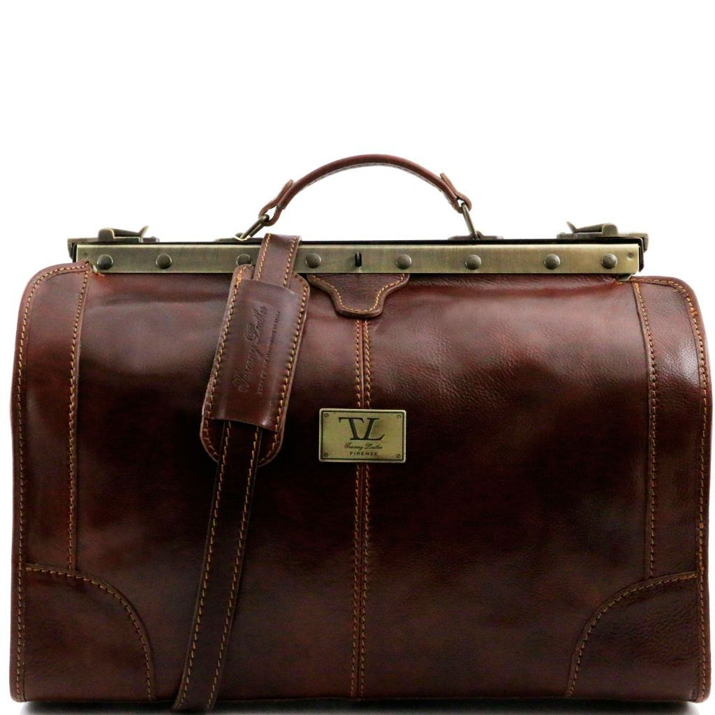 Tuscany Leather TL1023 Madrid - Gladstone Leather Bag - Small size Brown