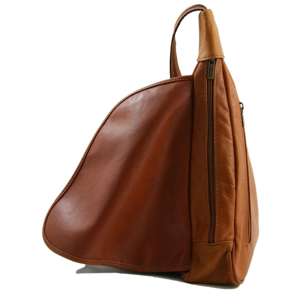 Tuscany Leather TL140966 Hanoi - Leather backpack Cognac