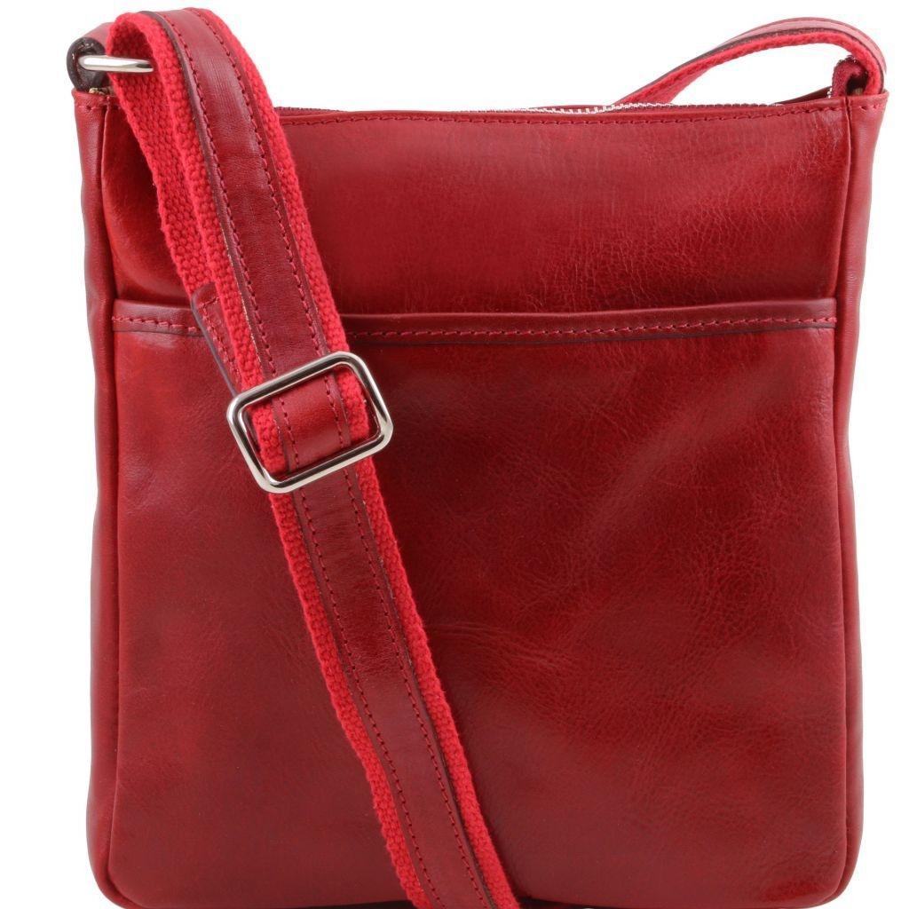 Tuscany Leather TL141300 Jason - Leather Crossbody Bag Red