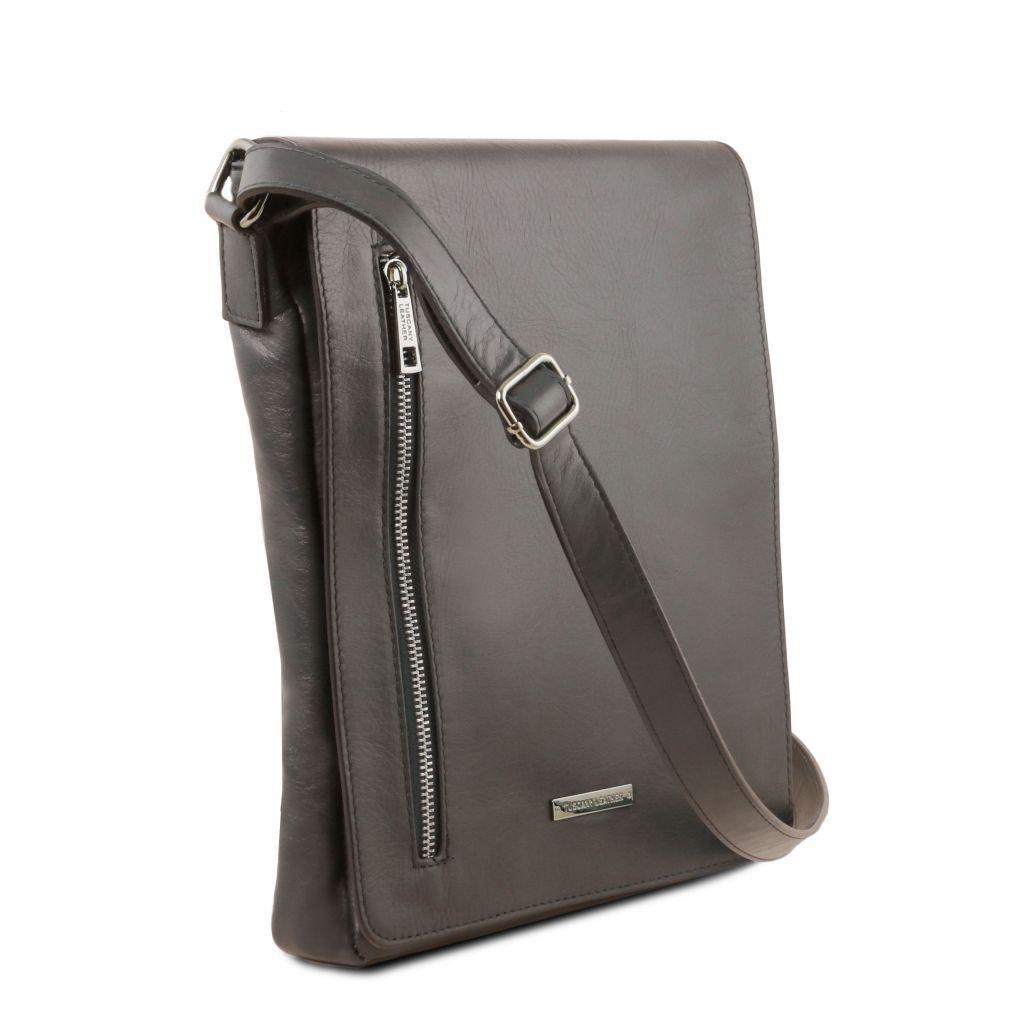 Tuscany Leather TL141723 Cesare - Sac bandoulière en cuir souple Grey