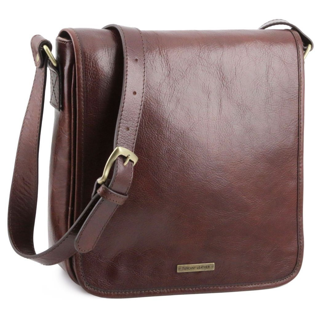 Tuscany Leather TL141260 TL Messenger - One compartment leather shoulder bag Honey