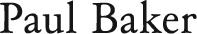 Logo Paul Baker