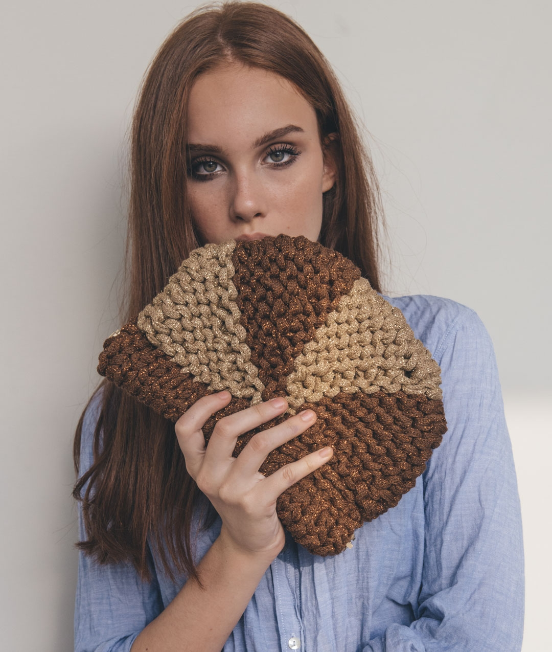 Bags - Wool - BROWN SUGAR CLUTCH - 1