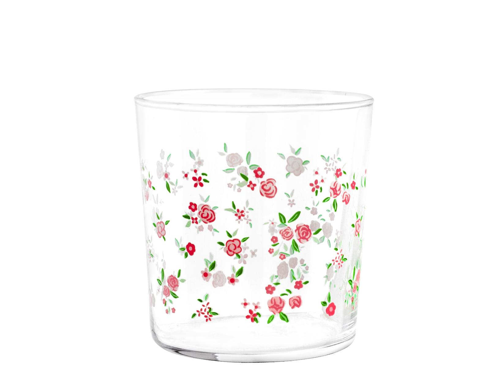 Acquista Set 6 Bicchiere Vetro Decoro Spring 17499330 | Glooke.com