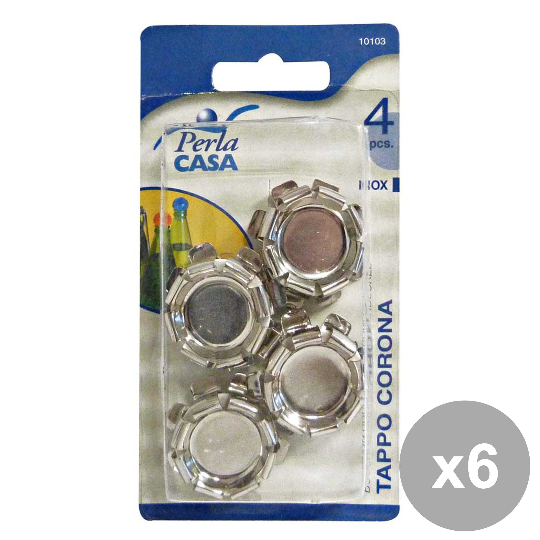 Acquista Set 6 Tappo Corona Inox Pezzi 17503980 | Glooke.com