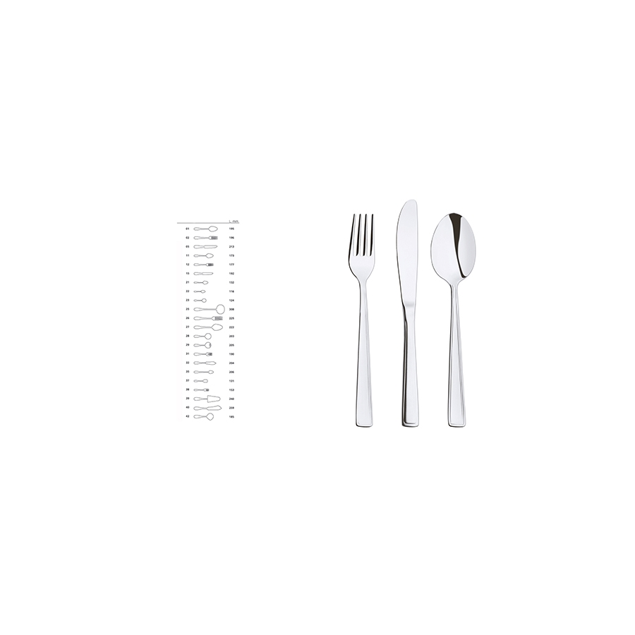 Acquista Set12 Coltelli Inox Tavola Boston 17517634 | Glooke.com