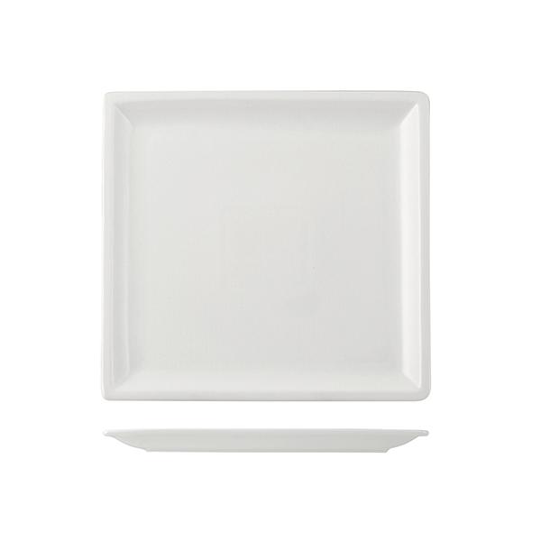 Acquista Piatto Porcellana Quadrato Cm25 17527669 | Glooke.com